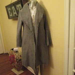 BCBGMaxazria vc Grey Long Open Cardigan Med Pretty